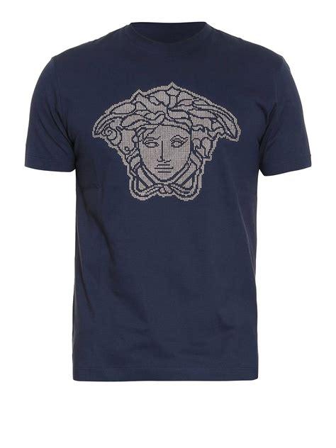 Versace Ori studded medusa logo t shirt by versace t shirts ikrix