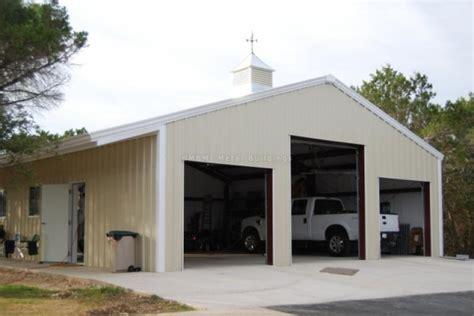 4 Car Garage Cost by Custom Prefabricated Steel Garage Buildings One Amp Two
