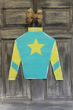 kentucky derby colors jockey silk cutout door hanger kentucky derby