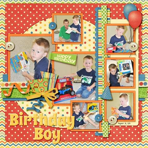 scrapbook layout birthday pin by sherry hartley on scrapbook birthday layouts