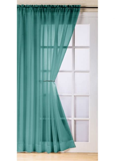 teal net curtains trent top quality slot top rod pocket net curtain voile
