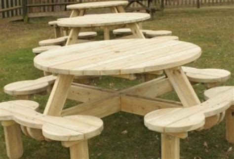 build a picnic table bench how to build a round picnic table and benches vintage