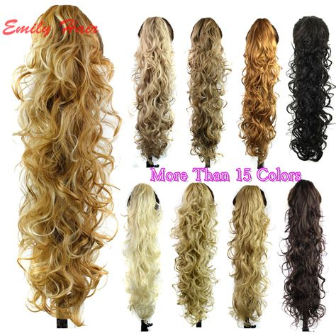 hair pieces ponytails layered curls claw clip ponytail extension wavy curly synthetic ponytail