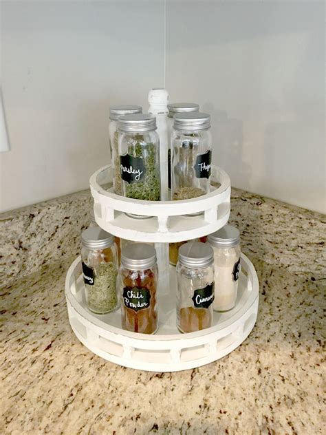 diy lazy susan spice rack diy lazy susan spice rack overalls power saws builds by britt