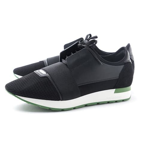 modern blue rakuten ichiba shop バレンシアガ balenciaga sneakers black shoes leather race running
