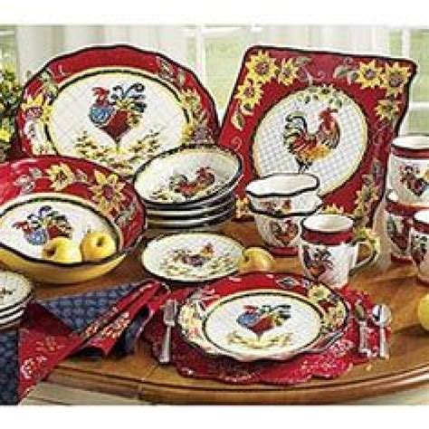 set of 3 rooster canisters country kitchen accent home dinnerware rooster dinnerware sets clearance rooster