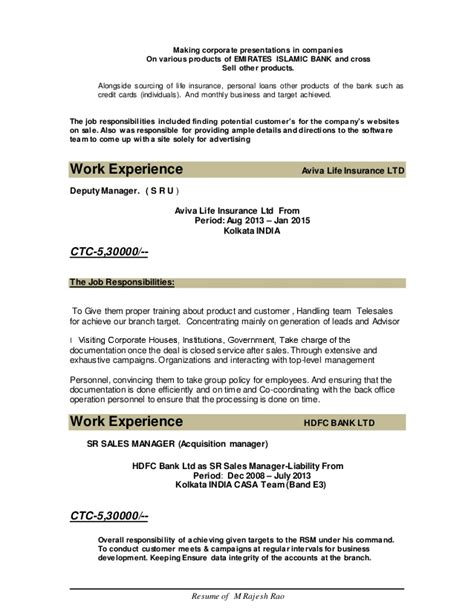 resume sles for self employed individuals rajesh resume 1