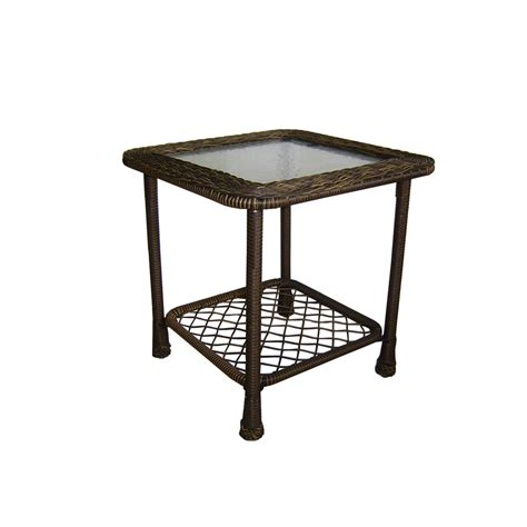 Patio Tables Lowes Shop Garden Treasures Severson Square End Table At Lowes