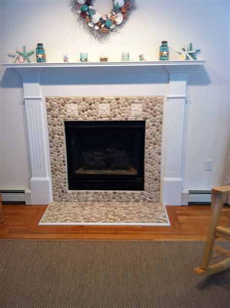 Fireplace Pebbles by Java And White Pebble Tile Pebble Tiles