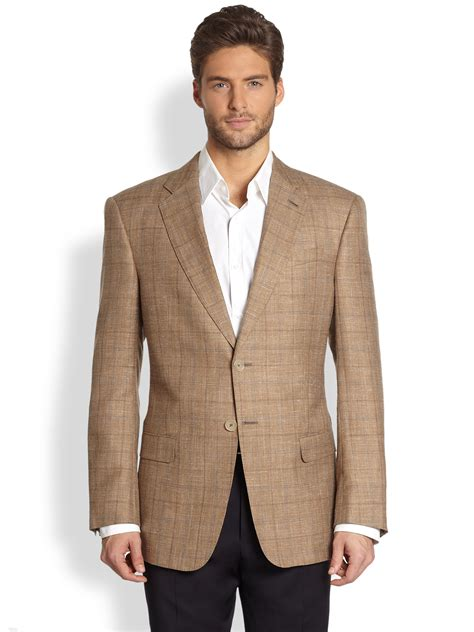 Blazer Entry Brown classic mens blazer fashion ql