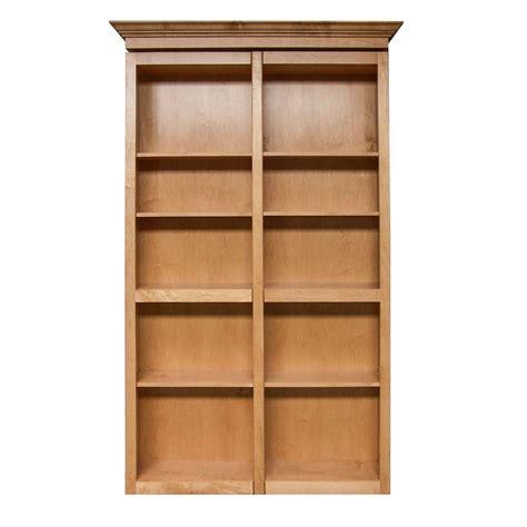 6 shelf oak bookcase invisidoor 74 in x 84 in unfinished red oak 6 shelf