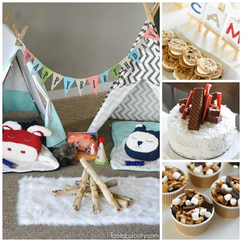 Pottery Barn Sleeping Bags Camping Birthday Party Ideas For Indoors Fantabulosity