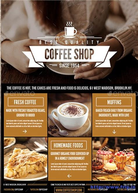 50 best coffee shop flyer print templates 2017 frip in