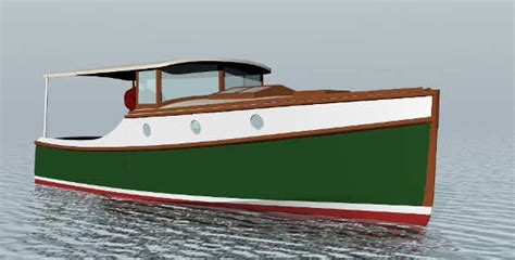 small boat kept on large boat wedge point 27 semi displacement trailerable classic