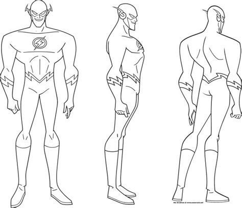 book layout reference justice league the flash turnaround coloring pages