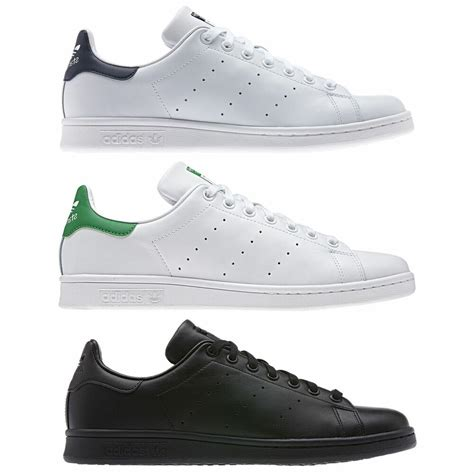 adidas originals mens stan smith trainers black white uk