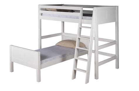 l for bed headboard camaflexi twin over twin loft bed l shape panel