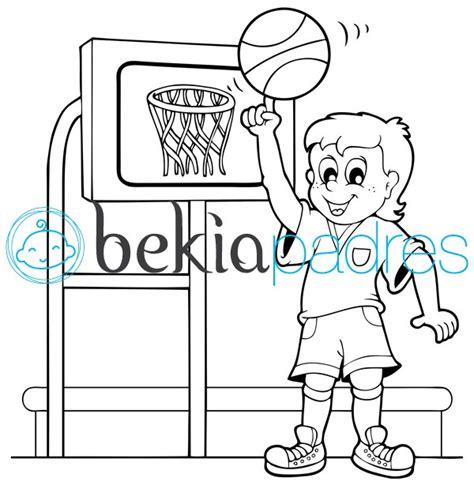 dibujos niños jugando baloncesto ni 241 o jugando al baloncesto dibujo para colorear