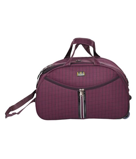 united check bag cost united bags lstrap check purple duffle bag buy united
