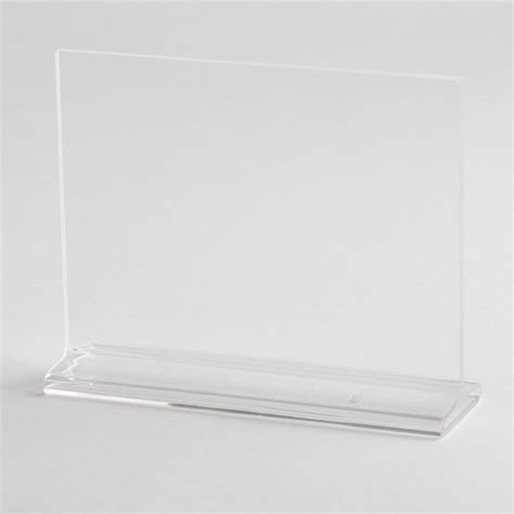 Countertop Sign Holders by Countertop Sign Holder Small Acrylic A B Store Fixtures