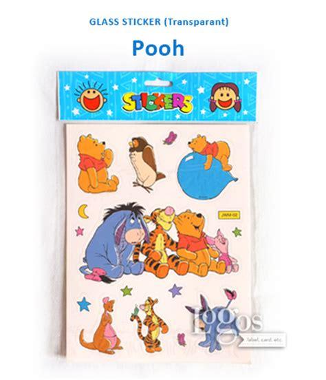 Lemari Plastik Winnie The Pooh jual glass sticker transparant winnie the pooh stiker hadiah anak logos