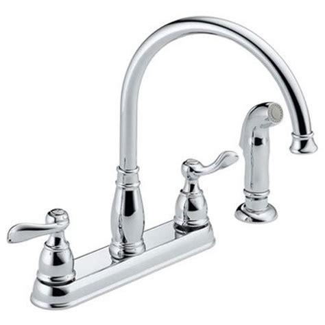 amazon delta kitchen faucets delta foundations 2 handle kitchen faucet chrome