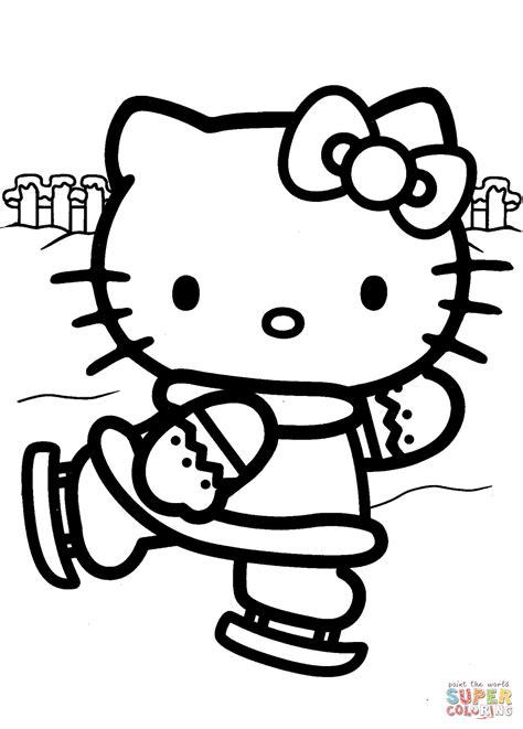 hello kitty skating coloring pages hello kitty ice skating coloring page free printable