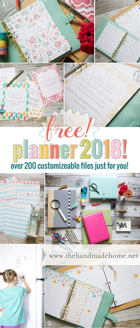 the handmade home printable planner 21 free printables to help you organize your life a