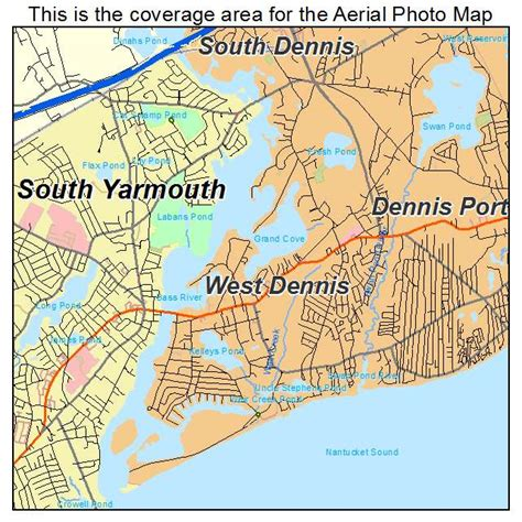 dennis ma aerial photography map of west dennis ma massachusetts