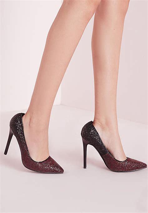 High Heels Original Catenzo 192 ombre glitter court shoes oxblood missguided heels superbalist
