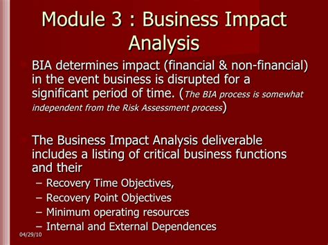 business impact analysis template for banks targer