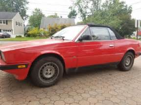 1987 maserati biturbo i zagato spyder barn find for sale photos technical specifications