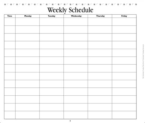 blank daily schedule sheet best photos of blank weekly schedule form printable