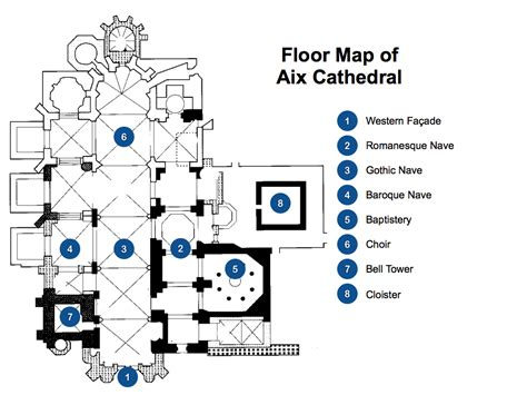 parts of a floor plan floorplan of aix cathedral french moments