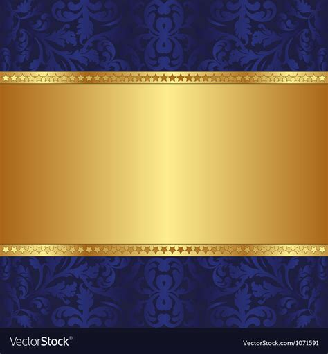 blue and gold background blue and gold background royalty free vector image
