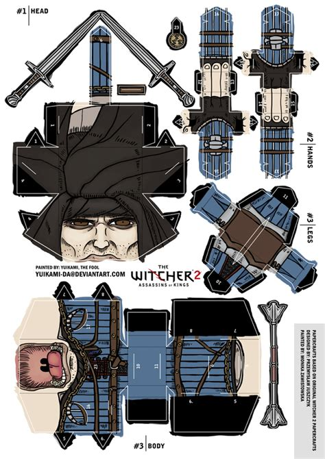 Witcher 2 Papercraft - photosled the witcher 2 roche papercraft display