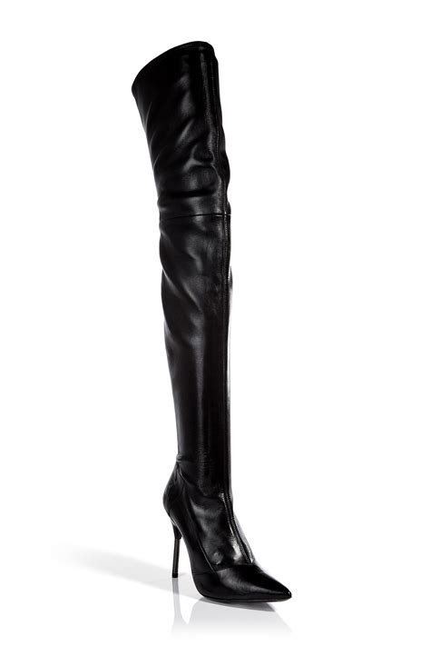 the knee leather boots roland mouret leather the knee boots in black lyst