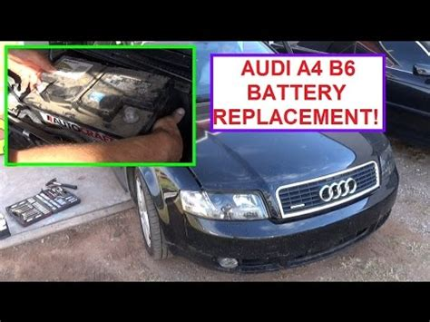 audi s4 battery battery replacement on audi a4 b6 how to remove and