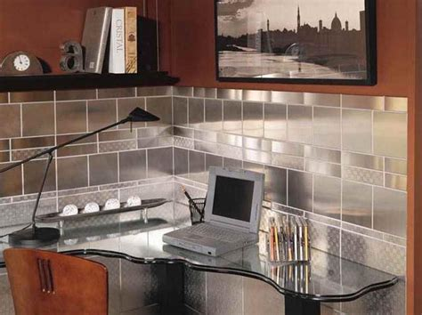 metal kitchen backsplash ideas contemporary stainless steel backsplash tile ideas