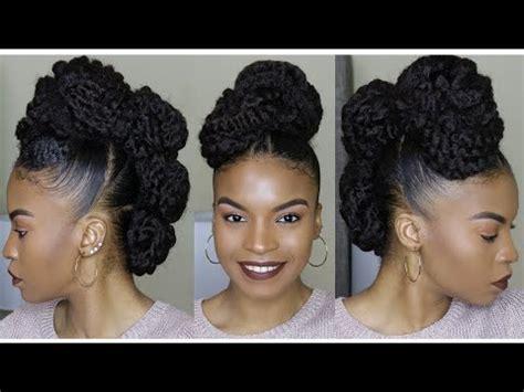 mohawks using bob marley hair natural hair faux mohawk updo using marley braiding hair