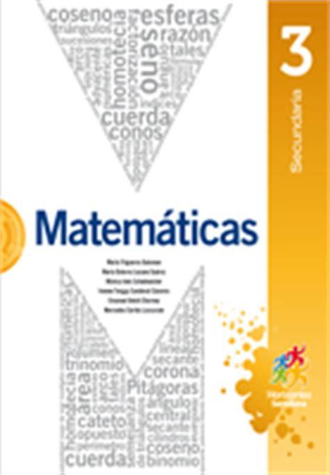 libro de matematicas 3 secundaria contestado 2016 matematicas 3 secundaria horizontes santillana librerias