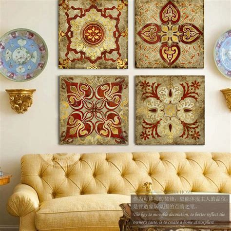 home decor online stores india 4 piece canvas art moroccan style gold national decoration