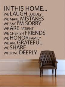wall quotes in this home vinyl wall quote by