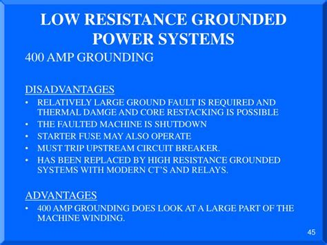 low resistance neutral grounding resistor ppt advantages and disadvantages of different types of neutral grounding systems powerpoint