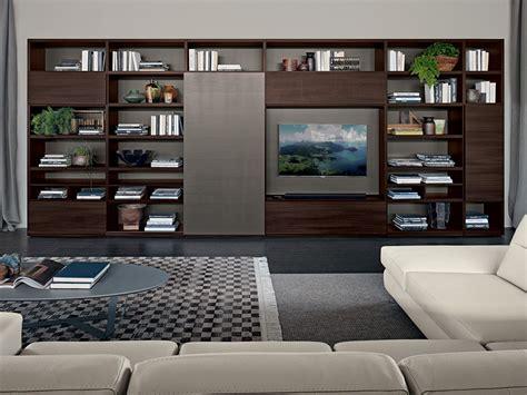 librerie porta tv libreria a parete con porta tv live contemporary
