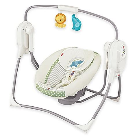 fisher price swing straps buy fisher price 174 spacesaver cradle n swing in white from