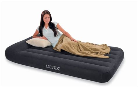intex luchtbed ultra plush bed queen intex pillow rest classic single size airbed only
