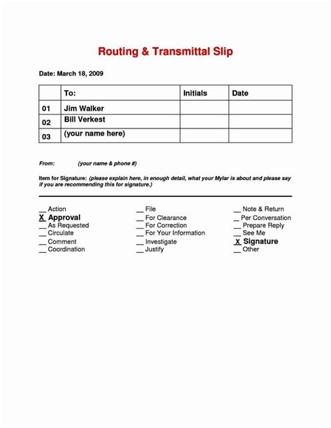 route slip template besttemplates123
