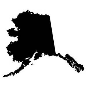 Alaska state outline outline die cut decal car window wall bumper