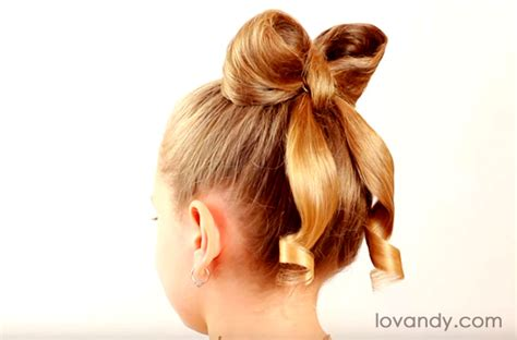 Bow Hairstyle Tutorial by Diy How To Make Hair Bow Hairstyle Tutorial